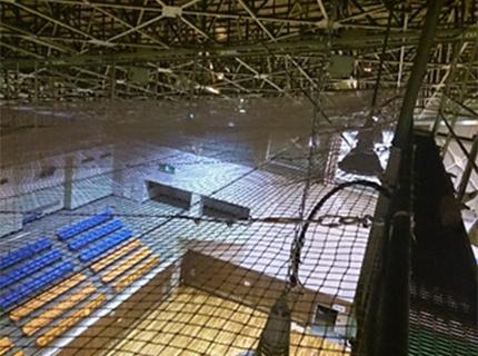 落下物防止防護ネット柵
