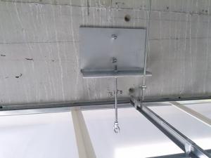 船井交流センター既存天井用防護ネット柵工事