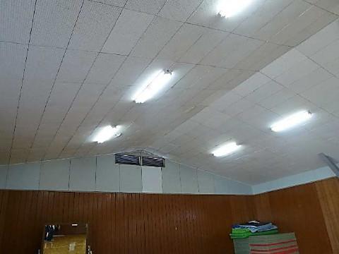 防護ネット柵取付前状況の天井