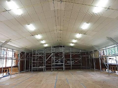 防護ネット柵取付後状況の天井