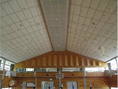 萩市福栄中学校体育館屋根