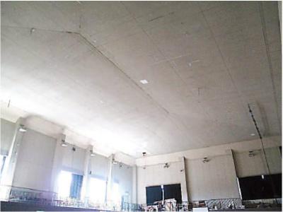 和水町菊水東小学校 防護ネット設置前