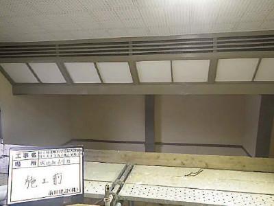 篠山市城北畑小学校体育館 防護ネット設置前